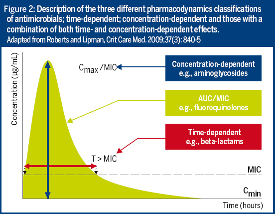 Figure 2: Descriptions of the threee different pharmacodynamics classifications of antimicrobials